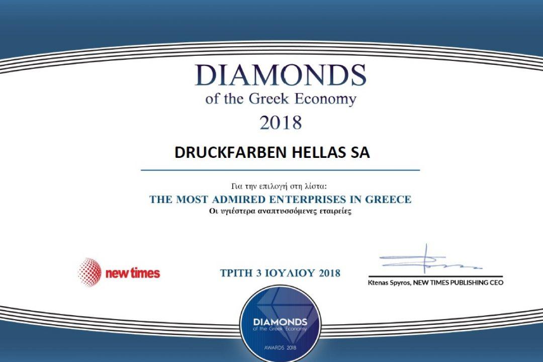 Diamonds of the Greek Economy 2018